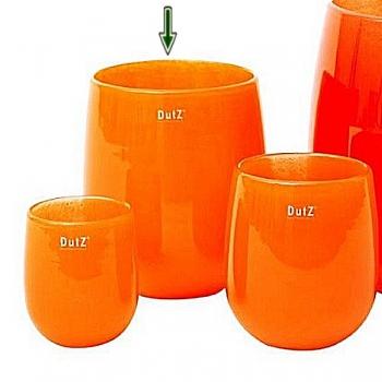 DutZ®-Collection Vase Barrel, h 24 x Ø 18 cm, orange