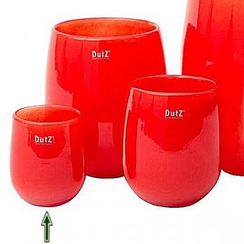 Collection DutZ® Vase Barrique, h 13 x Ø 10 cm, rouge