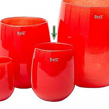 Collection DutZ® Vase Barrique, h 18 x Ø 14 cm, rouge