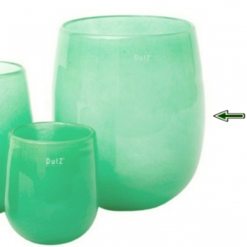 Collection DutZ® Vase Barrique, h 32 x Ø 27 cm, jade