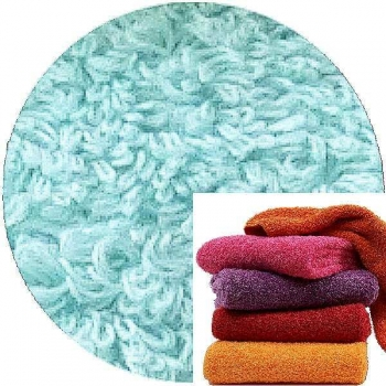Abyss & Habidecor Super Pile Terry Cloth Guest Towel/Washcloth, 30 x 30 cm, 100% Egyptian Giza 70 Cotton, 700g/m², 235 Ice