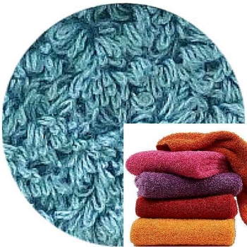 Abyss & Habidecor Super Pile Terry Cloth Guest Towel/Washcloth, 30 x 30 cm, 100% Egyptian Giza 70 Cotton, 700g/m², 309 Atlantic