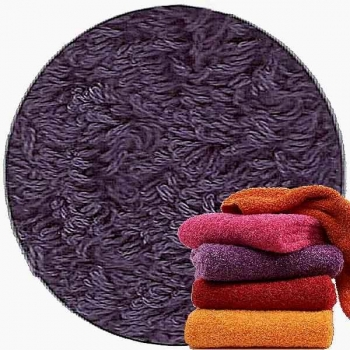 Abyss & Habidecor Super Pile Terry Cloth Guest Towel/Washcloth, 30 x 30 cm, 100% Egyptian Giza 70 Cotton, 700g/m², 420 Lilas