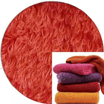 Abyss & Habidecor Super Pile Terry Cloth Guest Towel/Washcloth, 30 x 30 cm, 100% Egyptian Giza 70 Cotton, 700g/m², 556 Cayenne
