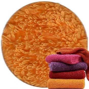 Abyss & Habidecor Super Pile Terry Cloth Guest Towel/Washcloth, 30 x 30 cm, 100% Egyptian Giza 70 Cotton, 700g/m², 635 Orange