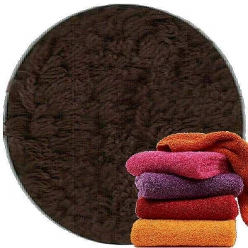 Abyss & Habidecor Super Pile Terry Cloth Guest Towel/Washcloth, 30 x 30 cm, 100% Egyptian Giza 70 Cotton, 700g/m², 772 Dark Brown