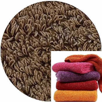 Abyss & Habidecor Super Pile Terry Cloth Guest Towel/Washcloth, 30 x 30 cm, 100% Egyptian Giza 70 Cotton, 700g/m², 778 Tobacco