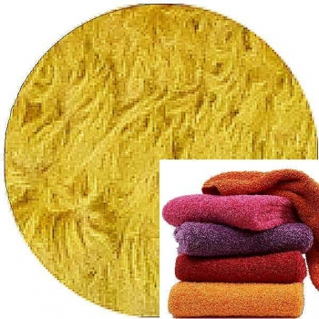 Abyss & Habidecor Super Pile Terry Cloth Guest Towel/Washcloth, 30 x 30 cm, 100% Egyptian Giza 70 Cotton, 700g/m², 850 Safran