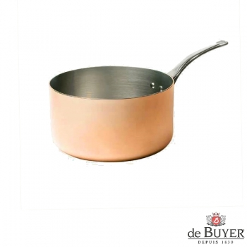 de Buyer, Casserole, 90% copper, 10% stainless steel, solid cast stainless steel handle, Ø 18 x h 10 cm, 2.5 l