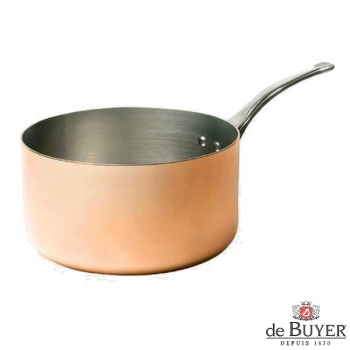 de Buyer, Casserole, 90% copper, 10% stainless steel, solid cast stainless steel handle, Ø 24 x h 11.5 cm, 5.4 l