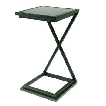 Eichholtz Champagne Cooler/Wine Cooler stand, Side Table Cross, gunmetal/glass, l 33 x w 33 x h 60 cm