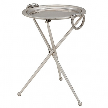 Eichholtz Champagne Cooler/Wine Cooler stand, Side Table Keller, silver plated, h 43 x Ø 33 cm