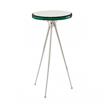 Eichholtz Champagne Cooler/Wine Cooler stand, Side Table Spectrum, nickeled/glass, h 60 x Ø 30 cm