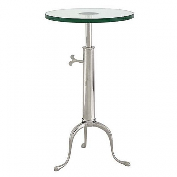 Eichholtz Champagne Cooler/Wine Cooler stand, Side Table Brompton, nickeled/glass, h 63-76 x Ø 40 cm