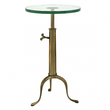 Eichholtz Champagne Cooler/Wine Cooler stand, Side Table Brompton, antique brass/glass, h 63-76 x Ø 40 cm