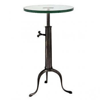 Eichholtz Champagne Cooler/Wine Cooler stand, Side Table Brompton, antique bronze/glass, h 63-76 x Ø 40 cm