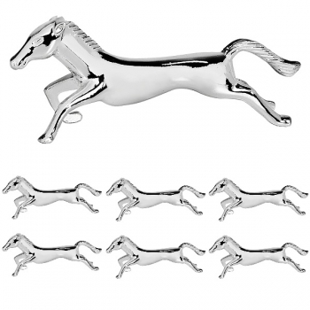 Edzard Knife Rests Horse, set of 6, shiny silver plated non tarnishing, l 8 cm