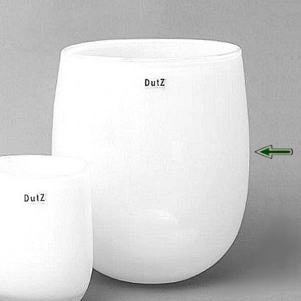 DutZ®-Collection Vase Barrel, H 32 x Ø 27 cm, Weiß