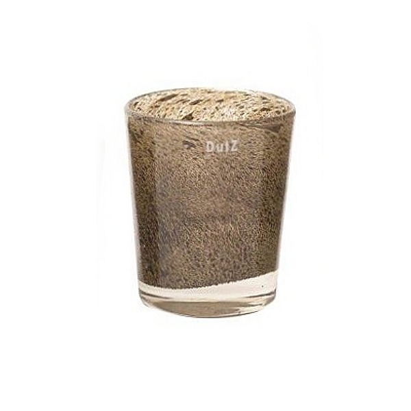 DutZ®-Collection Vase Conic, h 17  x  Ø.15 cm, silver/brown with bubbles