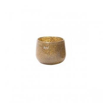 DutZ®-Collection Vase Pot Mini, h 7 x Ø 10 cm, silver/brown with bubbles