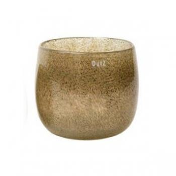 DutZ®-Collection Vase Pot, h 18 x Ø 20 cm, silver/brown with bubbles