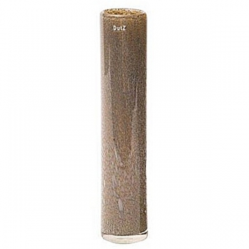 DutZ®-Collection Vase Cylinder, h 50 x Ø 10 cm, silver/brown with bubbles