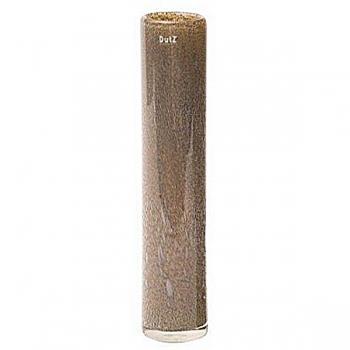Collection DutZ®  vase Cylinder, h 50 x Ø 10 cm, argent/marron avec cloques