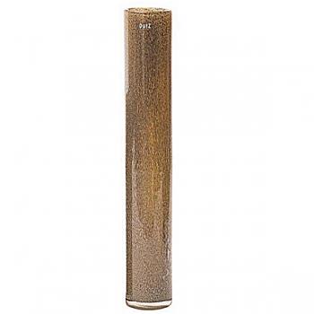 Collection DutZ®  vase Cylinder, h 70 x Ø 10 cm, argent/marron avec cloques