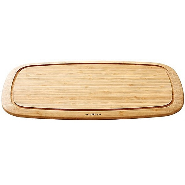 SCANPAN Classic, Serving/Carving/Cutting Board wtih juice groove, solid bamboo, l 50 x w 30 x h 4 cm