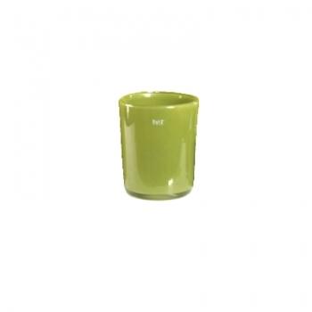 Collection DutZ ®  vase Conic, h 11 x Ø 9.5 cm, Colori: vert