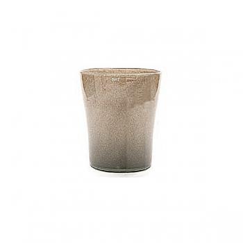 Collection DutZ ®  vase Conic, h 14 x Ø 12 cm, Colori: gris/marron