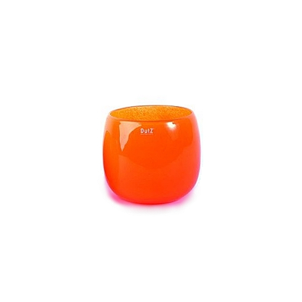 Collection DutZ ® vase/récipient Pot, h 11 x Ø 13 cm, Colori: orangé rouge