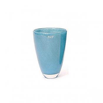 Collection DutZ ®  Vase, h 26 cm x Ø 16 cm, Colori: bleu petrol