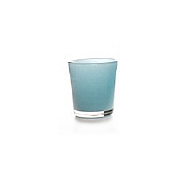 Collection DutZ ®  vase Conic, h 11 x Ø 9.5 cm, Colori: bleu petrol