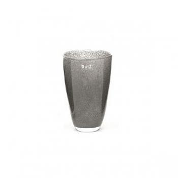 Collection DutZ ®  Vase, h 21 cm x Ø 13 cm, gris foncé