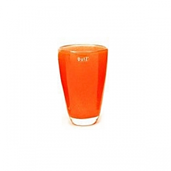 Collection DutZ ®  Vase, h 21 cm x Ø 13 cm, orange rouge
