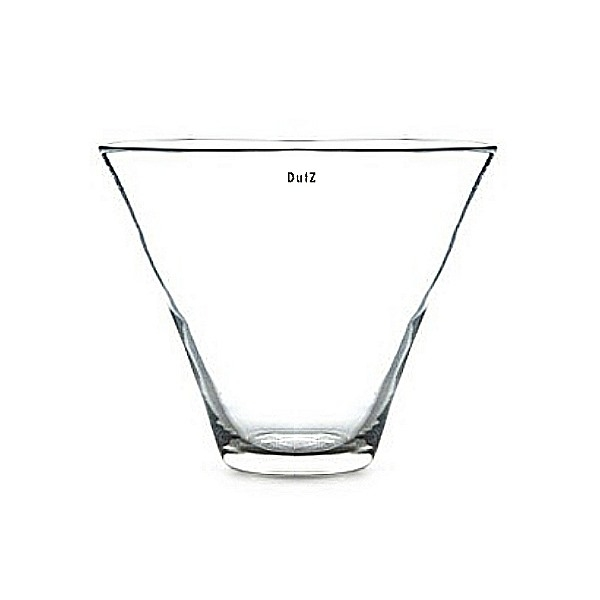 DutZ®-Collection Vase Conic Donau, H 20 x Ø 28 cm, Klar