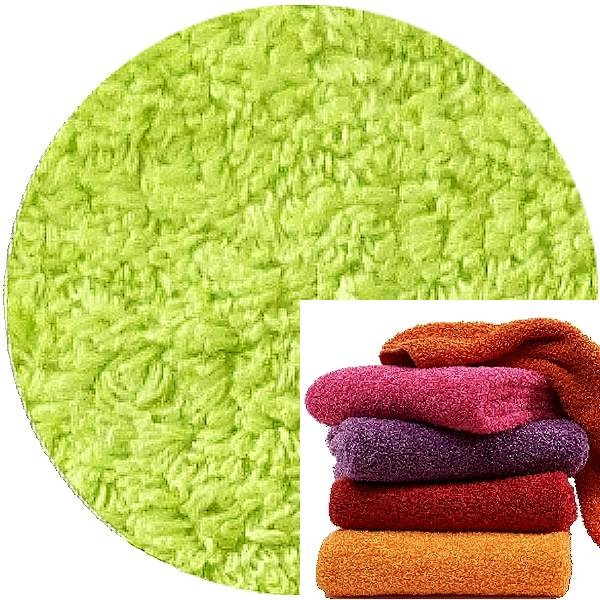 Abyss & Habidecor Super Pile Terry Cloth Guest Towel, 30 x 50 cm, 100% Egyptian Giza 70 Cotton, 700g/m², 231 Lime Green