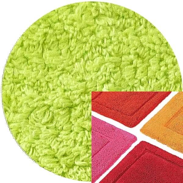 Abyss & Habidecor Badematte Must, 50 x 80 cm, 100% ägyptische Baumwolle, gekämmt, 231 Lime Green