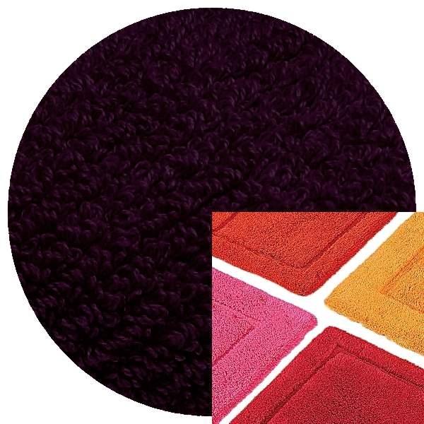 Abyss & Habidecor Badematte Must, 50 x 80 cm, 100% ägyptische Baumwolle, gekämmt, 490 Purple