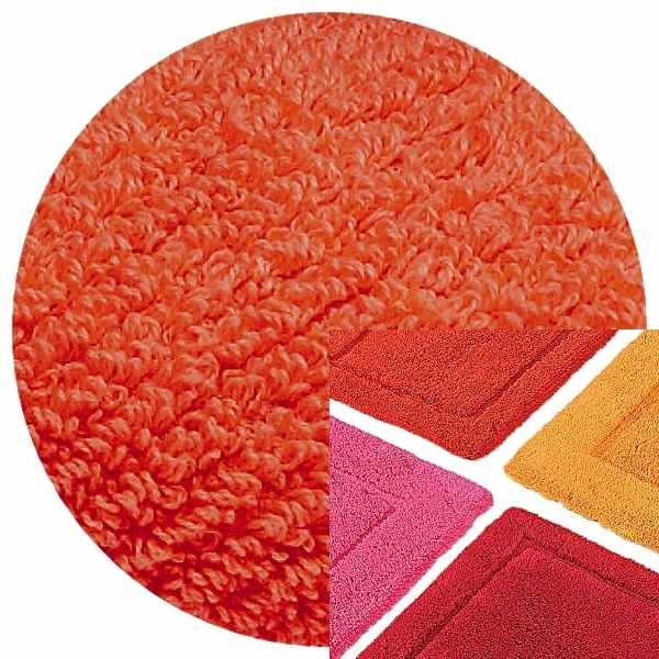 Abyss & Habidecor Bath Mat Must, 50 x 80 cm, 100% Egyptian Combed Cotton, 590 Corail