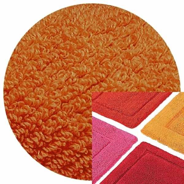 Abyss & Habidecor Badematte Must, 50 x 80 cm, 100% ägyptische Baumwolle, gekämmt, 605 Mandarin
