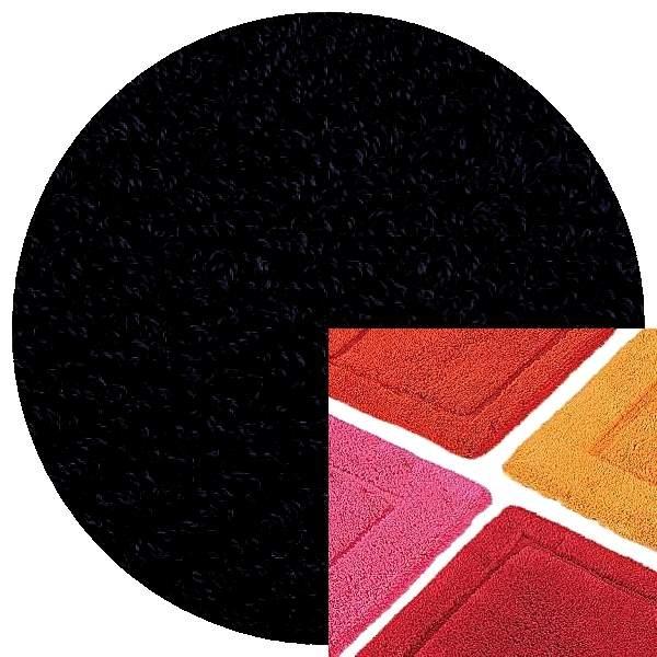 Abyss & Habidecor Badematte Must, 50 x 80 cm, 100% ägyptische Baumwolle, gekämmt, 990 Black