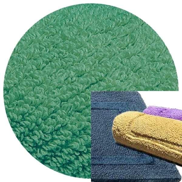 Abyss & Habidecor Bath Mat Reversible, 50 x 80 cm, 100% Egyptian Combed Cotton, 302 Lagoon