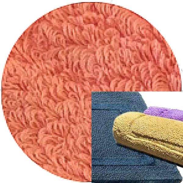 Abyss & Habidecor Bath Mat Reversible, 50 x 80 cm, 100% Egyptian Combed Cotton, 680 Salmon