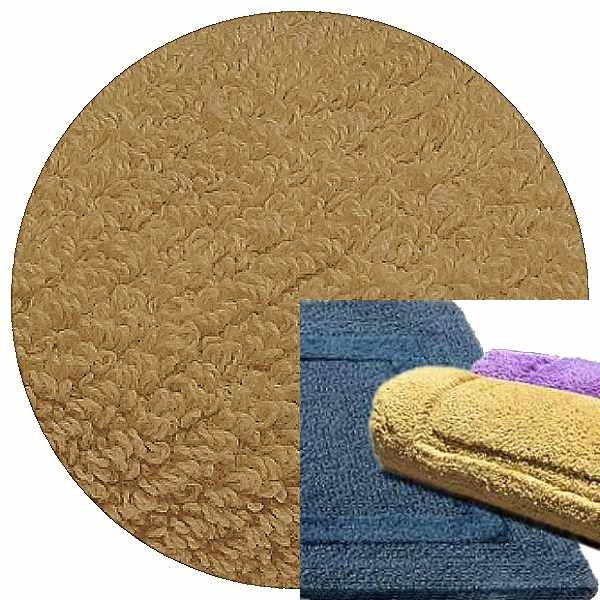 Abyss & Habidecor Badematte Reversible, 50 x 80 cm, 100% ägyptische Baumwolle, gekämmt, 711 Taupe