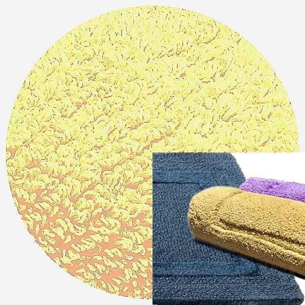Abyss & Habidecor Badematte Reversible, 50 x 80 cm, 100% ägyptische Baumwolle, gekämmt, 803 Popcorn