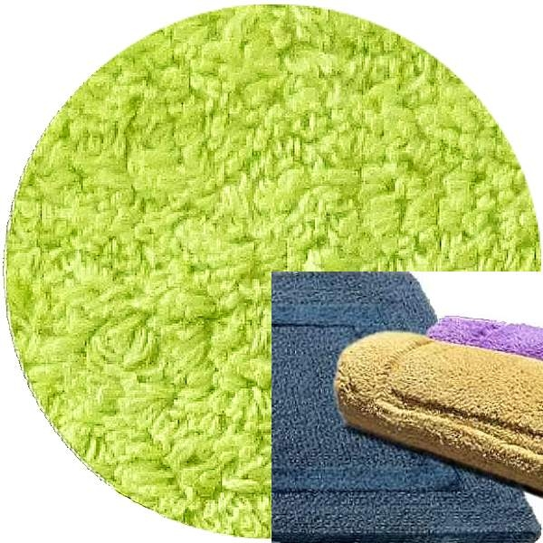 Abyss & Habidecor Bath Mat Reversible, 60 x 100 cm, 100% Egyptian Combed Cotton, 231 Lime Green