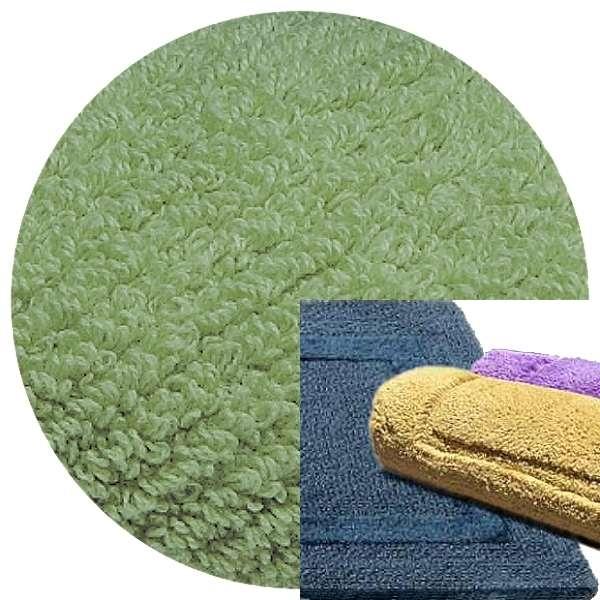 Abyss & Habidecor Bath Mat Reversible, 60 x 100 cm, 100% Egyptian Combed Cotton, 210 Aqua