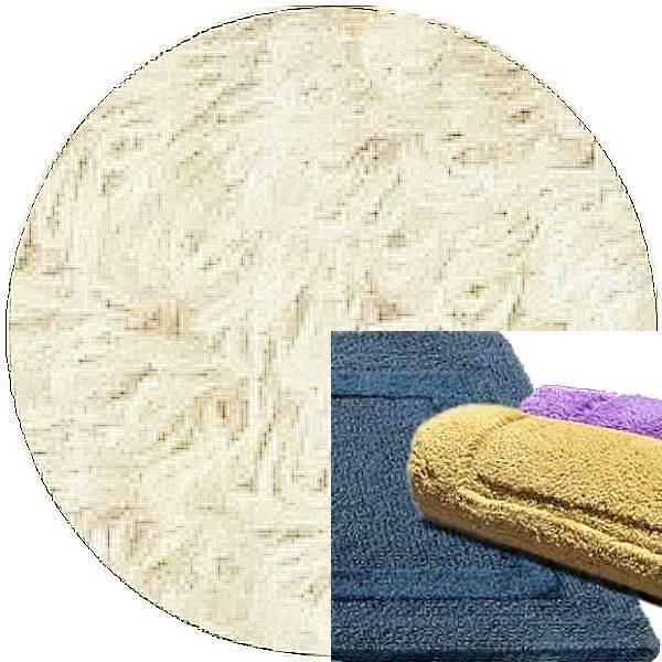 Abyss & Habidecor Bath Mat Reversible, 60 x 100 cm, 100% Egyptian Combed Cotton, 610 Nude
